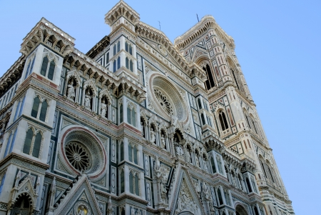 Facade of the Duomo of Santa Maria del Fiore in Florence Tuscany Italy