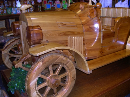 medici: Wooden Car in Florence Tuscany Italy