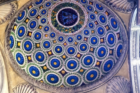 patti: The dome over the entrance to the Patti Chapel in the Church of Santa Croce in Florence Italy