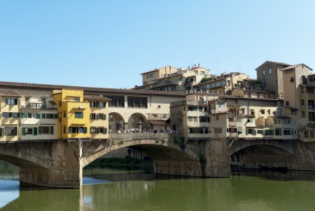 medici: The Ponte Vecchio over the River Arno in Florence Tuscany Italy Editorial