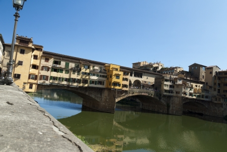 river arno: The Ponte Vecchio over the River Arno in Florence Tuscany Italy Editorial