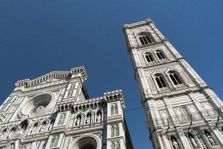 Facade of the Duomo of Santa Maria del Fiore in Florence Tuscany Italy