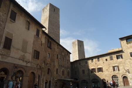 Towers of San Gimignano in Tuscany Italy