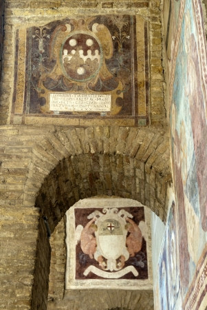 Fresco in the Town Hall of San Gimignano Tuscany Italy
