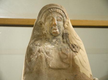 greek pottery: Ancient Greek Pottery items in Archaeological Museum in Mykonos Greece