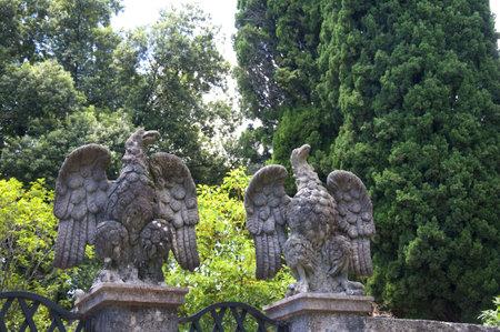 il: The Gardens of Il Vittoriale the Home of Italian Poet and soldier Gabrieli D Annunzio in Gardone Italy Editorial