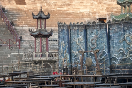 Stage set for the Opera Turandot in the Roman Arena in Verona Italy