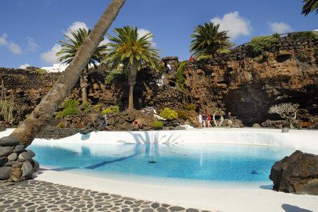 lanzarote: Jameos del agua on the island of Lanzarote in the Canary Islands Spain
