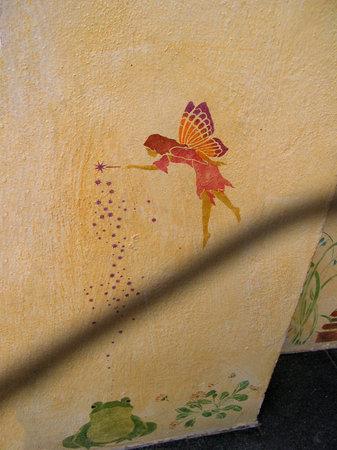 nerja: Decorated wall in Nerja Spain
