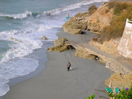 View over the Burriana Beach in Nerja Spain Stock Photo - 20264381