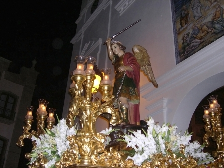 Statue at the church of El Salvatore in Nerja Spain