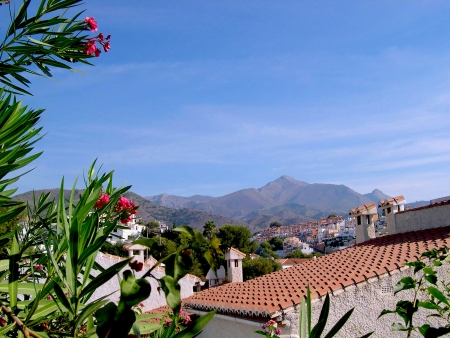nerja: The Alpujarra Mountains at Nerja Spain           Editorial