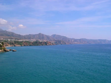 View from the Balcon de Europa in Nerja Andalucia Spain