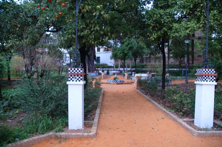 Park in Seville.The principal Moorish and Gothic buildings in the old quarter of Seville are a UNESCO World Heritage Site