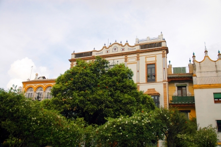 Colonial Style Buildings in Seville Spain