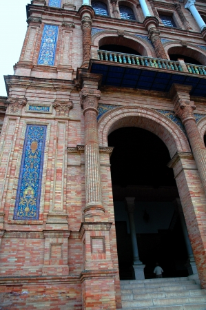 espana: Plaza Espana in Seville Spain Editorial