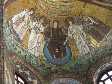 ravenna: 10th century mosaics in Ravenna Italy