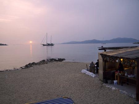 taverna: The beautiful Island of Mykonos in the Cyclades Islands Greece