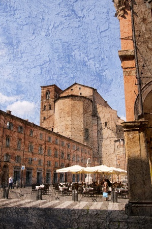 po valley: Beautiful Medieval City of Bologna Italy. Bologna is the capital city of Emilia-Romagna, in the Po Valley of Northern Italy Editorial