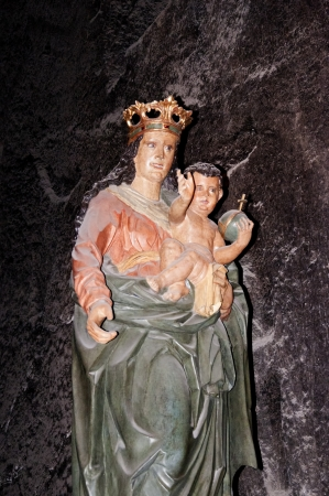 salt mine: Madonna in the Salt Mine in Wieliczka Poland