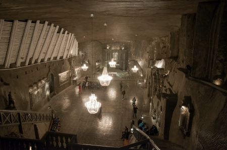 cathedral Gallery in the Salt Mine in Wieliczka Poland