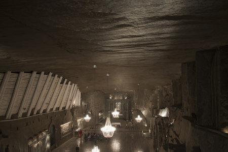 salt mine: Cathedral Gallery in the Salt Mine in Wieliczka Poland