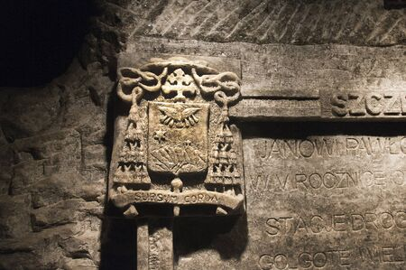 salt mine: Rock salt carving in the Salt Mine in Wieliczka Poland Editorial
