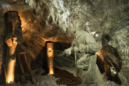 salt mine: Rock salt statue in the Salt Mine in Wieliczka Poland