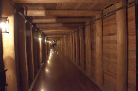 salt mine: Tunnel in the Salt Mine in Wieliczka Poland Editorial