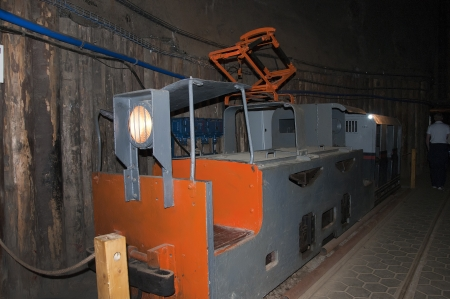 salt mine: Transport in the Salt Mine in Wieliczka Poland