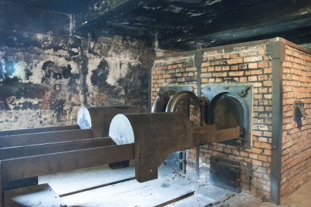 oswiecim: The Crematorium of the Concentration Camp at Auschwitz in Poland