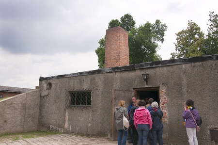 The crematorium of the Concentration Camp at Auschwitz in Poland