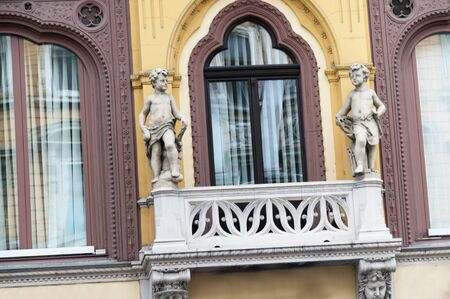 Ornate Buildings in Budapest Hungary