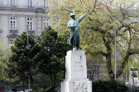 Statue on Andrassy Street Budapest Hungary