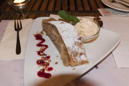 Apple Strudel in Budapest Hungary