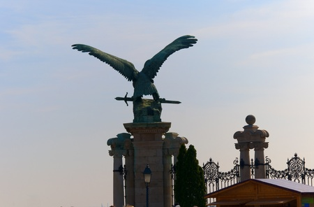 Imperial Eagle on the Royal Palace in Budapest Hungary