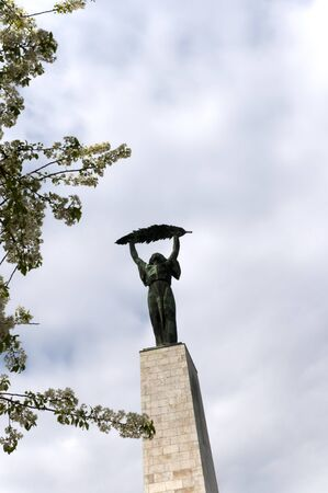 Statue of freedom on Citadel Hill in Budapest Hungary