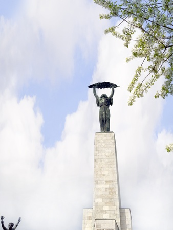 Staue of freedom on Citadel Hill in Budapest Hungary