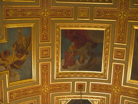 Ceiling of Hungarian State Opera House in Budapest Hungary