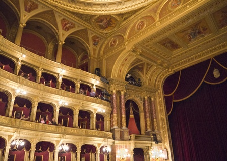 Hungarian State Opera House in Budapest Hungary