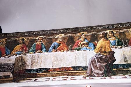 chora: �ltima Cena en la Iglesia Cat�lica de Mykonos Grecia Editorial