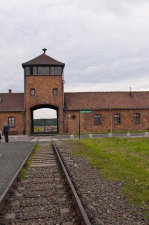 auschwitz memorial: Trainline to Auschwitz Birkenau Concentration Camp in Poland