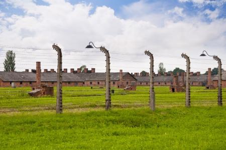 birkenau: Auschwitz Birkenau Concentration Camp in Poland Editorial