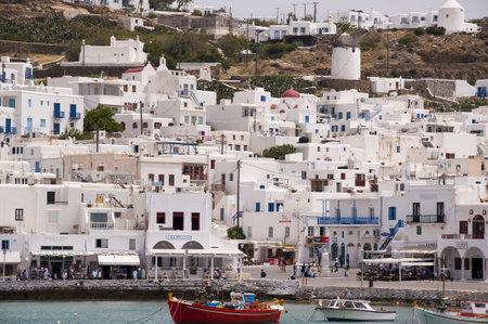 chora: Chora, la ciudad principal en la isla de Mykonos Grecia Editorial