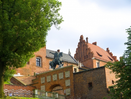 wawel: Gateway of Wawel Castle in Krakow Poland Editorial