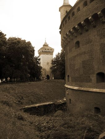 portcullis: Il bastione Fortificazioni a Cracovia in Polonia