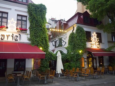 kazimierz: Restaurant in the Kazimierz District of Kracow formerly the Jewish Area of the city in Poland