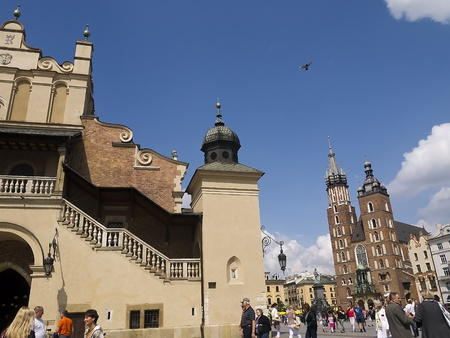 The Cloth Hall in The Market Square in Krakow Poland