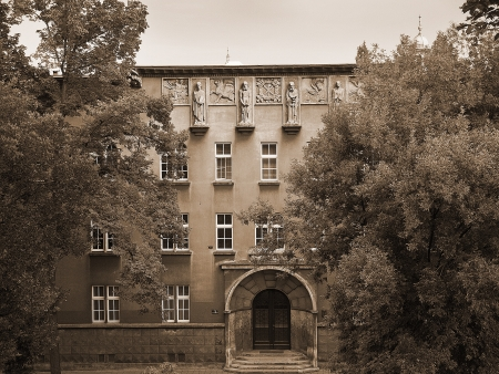 The University Buildings in Krakow Poland