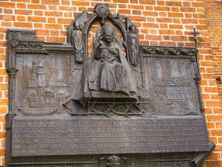 Memorial to Pope John Paul ll in Krakow Poland